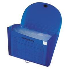 C-Line Specialty Expanding Files, Letter, 13-Pocket, Blue