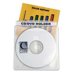 C-Line Deluxe Individual CD/DVD Holders, 50/BX