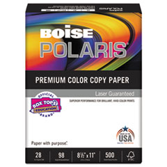 Boise POLARIS Premium Color Paper, 98 Bright, 28lb, 11 x 17, White, 500 Sheets