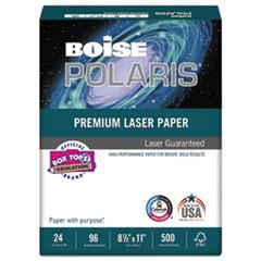 Boise POLARIS Premium Laser Paper, 96 Bright, 24lb, 8 1/2 x 11, White
