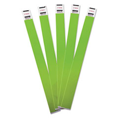 Advantus Crowd Management Wristbands, Sequentially Numbered, Green, 500/Pack