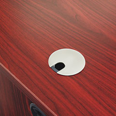 basyx Optional Grommet For Worksurfaces, Brushed Nickel Finish