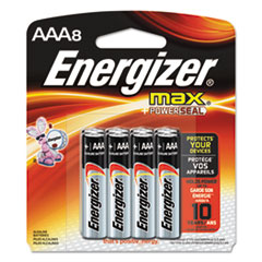 Energizer MAX Alkaline Batteries, AAA, 8 Batteries/Pack