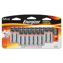 Energizer MAX Alkaline Batteries, AA, 16 Batteries/Pack
