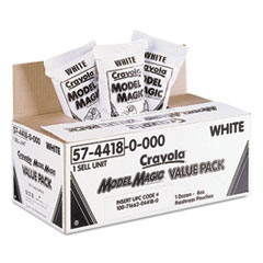 Crayola Model Magic Modeling Compound, 8 oz, White, 6 lbs.