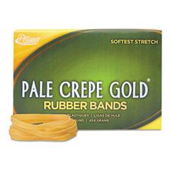 Alliance Pale Crepe Gold Rubber Bands, Sz. 64, 3-1/2 x 1/4, 1lb Box