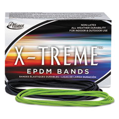 Alliance X-treme File Bands, 117B, 7 x 1/8, Lime Green, Approx. 175 Bands/1lb Box