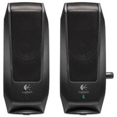 Logitech S120 2.0 Multimedia Speakers, Black