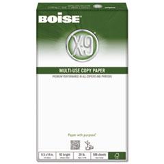 Boise X-9 Multi-Use Copy Paper, 92 Bright, 20lb, 8-1/2 x 14, White, 5000 Sheets/Carton
