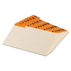 Oxford Laminated Tab Index Card Guides, Daily, 1/5 Tab, Manila, 5 x 8, 31/Set