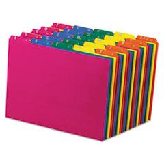 Pendaflex Top Tab File Guides, Alpha/A-Z 1/5 Tab, Polypropylene, Letter, 25/Set
