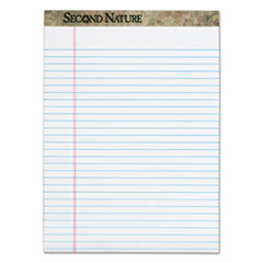 TOPS Second Nature Recycled Pads, 8 1/2 x 11 3/4, White, 50 Sheets, Dozen