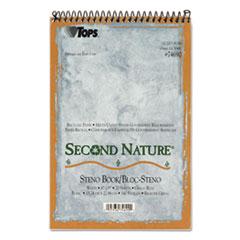 TOPS Second Nature Spiral Reporter/Steno Book, Gregg, 6 x 9, White, 70 Sheets