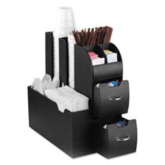Mind Reader Coffee Condiment Caddy Organizer, 5 2/5 x 11 x 12 3/5, Black