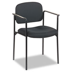 VL616 Stacking Guest Chair with Arms, Black