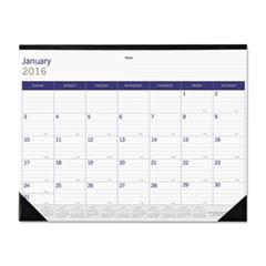 Blueline DuraGlobe Monthly Desk Pad Calendar, 22 x 17, 2016