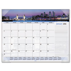 AT-A-GLANCE Harbor Views Panoramic Desk Pad, 22 x 17, Harbor Views, 2016