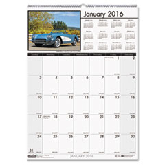 House of Doolittle Classic Cars Monthly Wall Calendar, 12 x 16 1/2, 2016