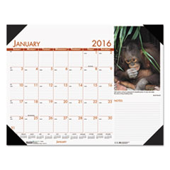 House of Doolittle Beautiful Wildlife Photographic Monthly Desk Pad Calendar, 22 x 17, 2016