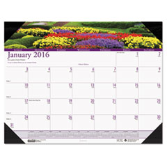 House of Doolittle Gardens of the World Photographic Monthly Desk Pad Calendar, 22 x 17, 2016