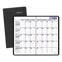 DayMinder Pocket-Sized Monthly Planner, 3 5/8 x 6 1/16, Black, 2015-2017