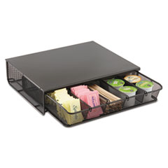 Safco One Drawer Hospitality Organizer, 5 Compartments, 12 1/2 x 11 1/4 x 3 1/4, Bk