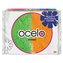 3M O-Cel-O O-Cel-O Sponge w/3M Stayfresh Technology, 4 7/10 x 3 x 3/5, 4/Pack