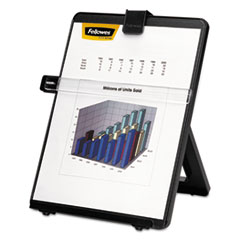 Fellowes Non-Magnetic Letter-Size Desktop Copyholder, Plastic, 125 Sheet Capacity, Black