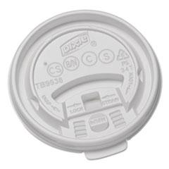 Dixie Plastic Lids for Hot Drink Cups, 8oz, White, 1000/Carton