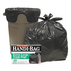 "Handi-Bag® LINER 33GAL 40-BX BK SUPER VALUE PACK, 33 GAL, 0.65 MIL, 32.5"" X 40"", BLACK, 40-BOX"