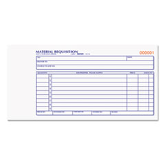 Rediform Material Requisition Book, 4 1/4 x 7 7/8, Two-Part Carbonless, 50-Set Book