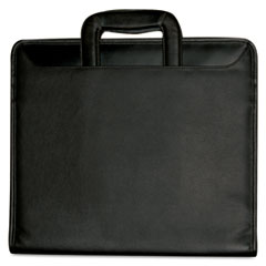 Buxton Zip-Around Portfolio, File Pockets, 3-Ring Binder, Writing Pad, Organizer, Black