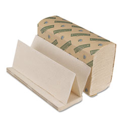 Boardwalk Green Seal Multifold Towels, Natural White, 9 1/8 x 9 1/2, 250/Pk, 16 Pks/Ctn