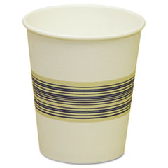 Boardwalk Paper Hot Cups, 10oz, Blue & Tan, 50/Bag, 20 Bags/Carton
