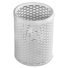 AOP ART20005WH Artistic Urban Collection Punched Metal Pencil Cup AOPART20005WH