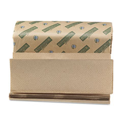 Boardwalk Green Folded Towels, Multi-Fold, Natural, 9 1/8W x 9 1/2L, 200/Pack, 20/Carton