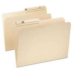 Pendaflex CutLess/WaterShed File Folders, 1/3 Cut Top Tab, Letter, Manila, 100/Box
