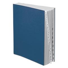 Pendaflex Expandable Desk File, 1-31/Jan-Dec, Letter Size, Pressboard, Black/Blue