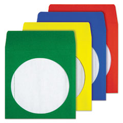 Quality Park Colored CD/DVD Paper Sleeves, 50/Box