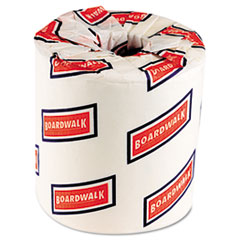 Boardwalk Bathroom Tissue, Two-Ply, White, 500 Sheets/Roll, 96 Rolls/Carton