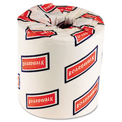 Boardwalk One-Ply Toilet Tissue, 1000 Sheets, White, 96 Rolls/Carton