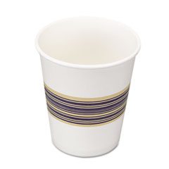 Boardwalk Paper Hot Cups, 8 oz., Blue & Tan, 20 Bags of 50, 1000/Carton