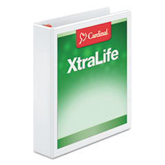 Cardinal XtraLife ClearVue Non-Stick Locking Slant-D Binder, 1.5