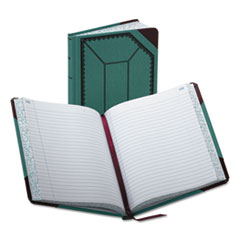 BOR 3738300R Boorum & Pease Record Book with Blue and Red Cover BOR3738300R