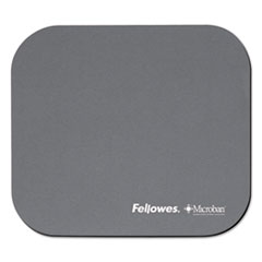 Fellowes Mouse Pad w/Microban, Nonskid Base, 9 x 8, Graphite