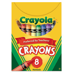 Crayola® CRAYON TUCKBX 8ST AST Classic Color Crayons, Tuck Box, 8 Colors