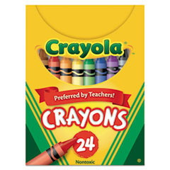 Crayola Classic Color Pack Crayons, Tuck Box, 24/Box