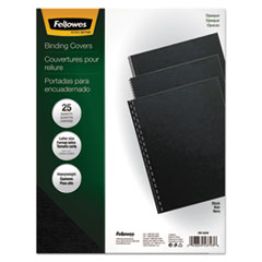 Fellowes Futura Binding System Covers, Square Corners, 11 x 8 1/2, Black, 25/Pack