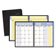 AT-A-GLANCE QuickNotes Monthly Planner, 6 7/8 x 8 3/4, Black, 2016