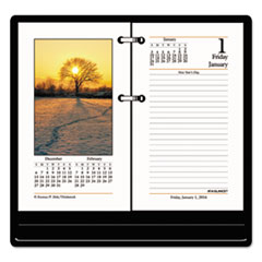 AT-A-GLANCE Photographic Desk Calendar Refill, 3 1/2 x 6, 2016